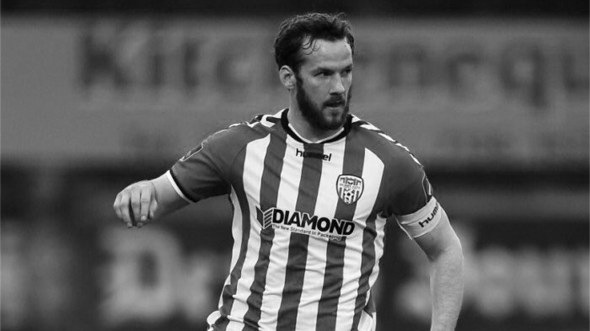 Ryan McBride in black and white