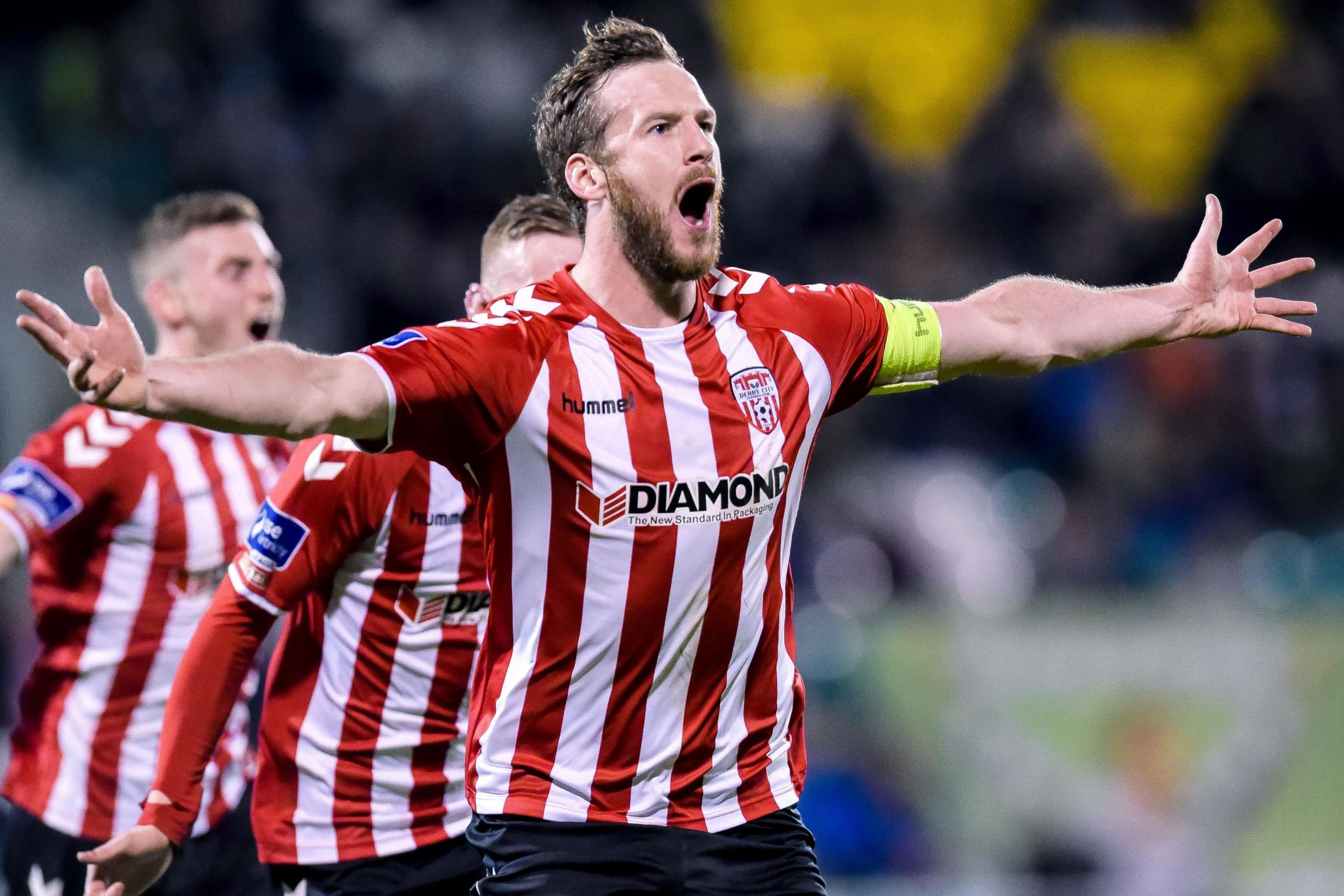 Ryan McBride playing for Derry City FC